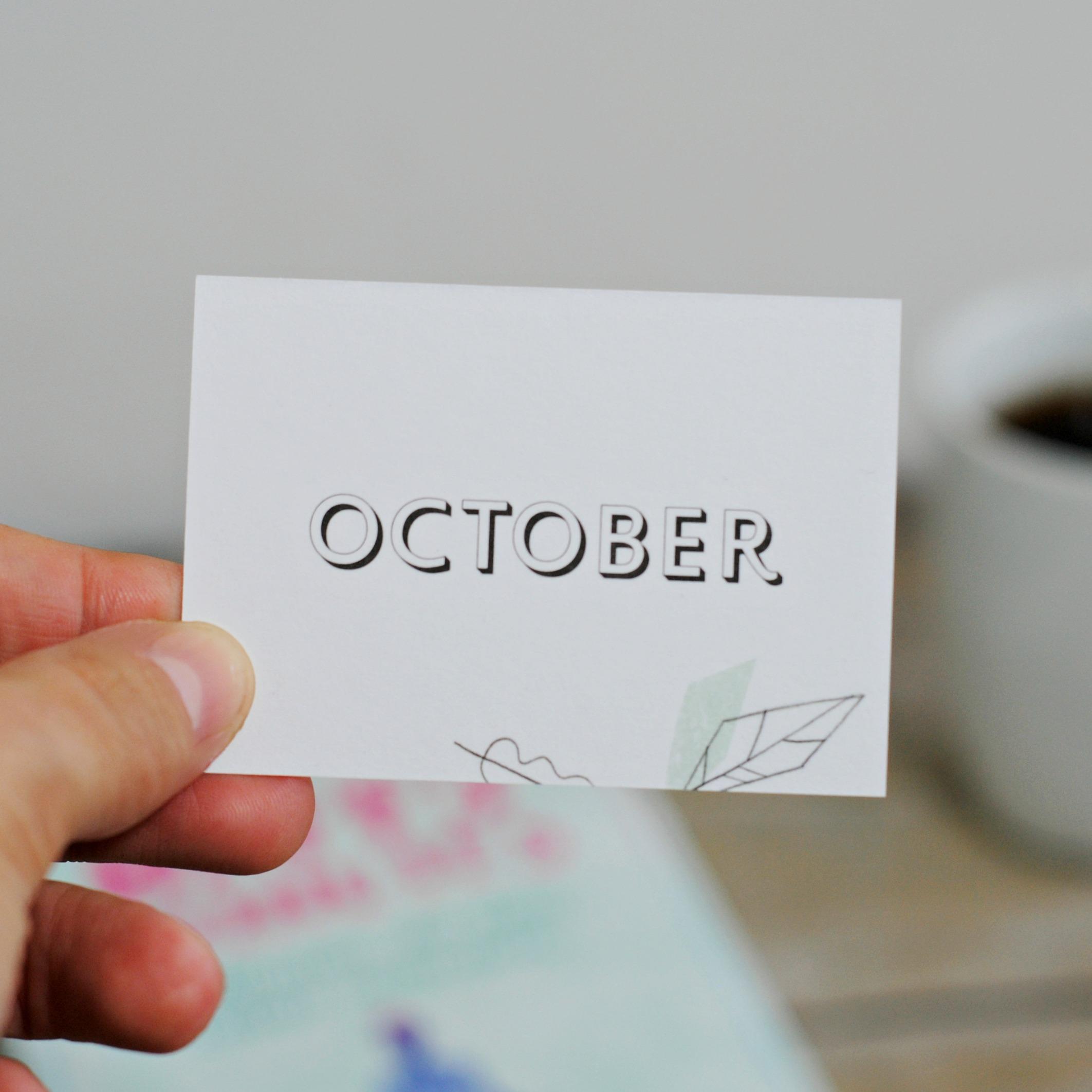 Monatsmoto Oktober, kleine Pausen