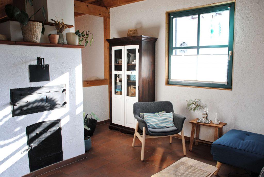 Holzhaus Interior Kamin