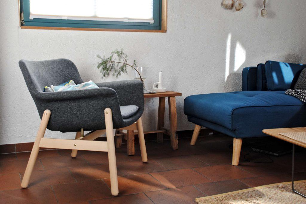 Holzhaus Interior Wohnzimmer